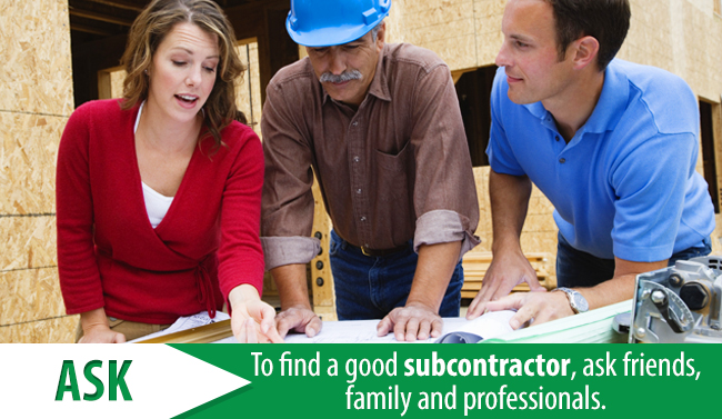 Steps to take when hiring a subcontractor steve allen Find subcontractors